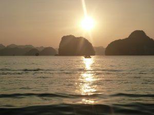 Halong bay - zonsondergang
